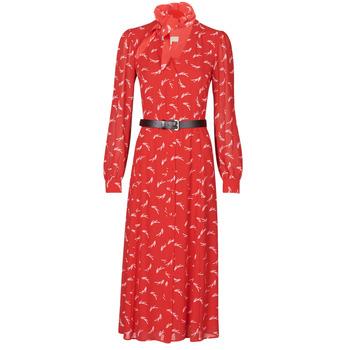Textil Ženy Společenské šaty MICHAEL Michael Kors SIGNTRE LOGO SHRT DRS Červená