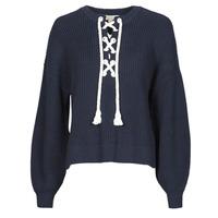Textil Ženy Svetry MICHAEL Michael Kors EASY ROPE LACE SWTR Tmavě modrá