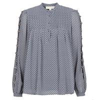 Textil Ženy Halenky / Blůzy MICHAEL Michael Kors MINI FLORAL LS TOP Tmavě modrá