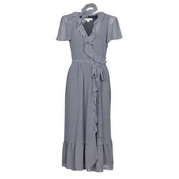 Textil Ženy Společenské šaty MICHAEL Michael Kors MINI BICOLR 60S FLRL DRS Modrá