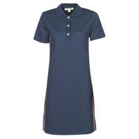 Textil Ženy Krátké šaty MICHAEL Michael Kors SS LOGO TAPE POLO DRS Tmavě modrá