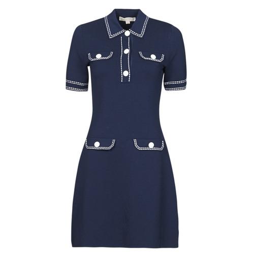 Textil Ženy Krátké šaty MICHAEL Michael Kors CONTRAST STITCH BUTTON DRESS Tmavě modrá