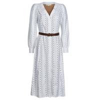 Textil Ženy Společenské šaty MICHAEL Michael Kors ROPE STRIPES HEMP DS Bílá