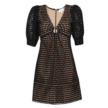 Textil Ženy Krátké šaty MICHAEL Michael Kors GEO EYELET MINI DRESS Černá