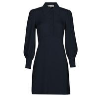 Textil Ženy Krátké šaty MICHAEL Michael Kors VI SATIN MINI DRESS Tmavě modrá