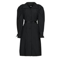 Textil Ženy Pláště Karl Lagerfeld DRAPEDTRENCHCOAT Černá