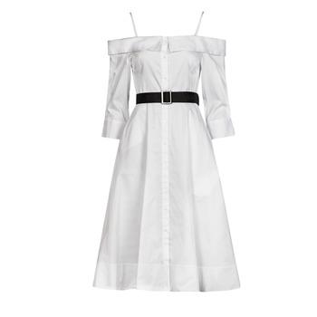 Textil Ženy Společenské šaty Karl Lagerfeld COLDSHOULDERSHIRTDRESS Bílá