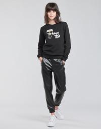 Textil Ženy Kapsáčové kalhoty Karl Lagerfeld FAUXLEATHERJOGGERS Černá