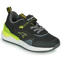 Boty Chlapecké Nízké tenisky Kangaroos KD-GYM EV Černá / Žlutá