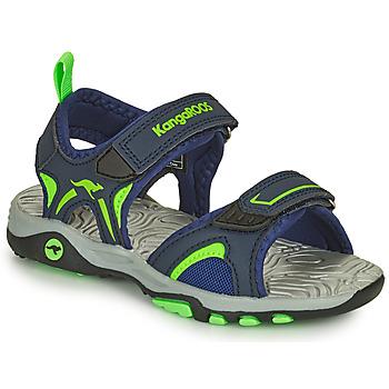 Boty Chlapecké Sandály Kangaroos K-MONT Modrá / Zelená