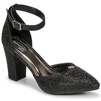 Boty Ženy Sandály Spot on F90092 Černá