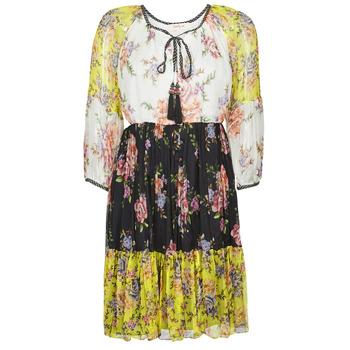 Textil Ženy Krátké šaty Derhy SARDAIGNE Černá / Bílá / Žlutá