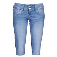 Textil Ženy Tříčtvrteční kalhoty Pepe jeans VENUS CROP Modrá