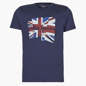Textil Muži Trička s krátkým rukávem Pepe jeans DONALD Tmavě modrá