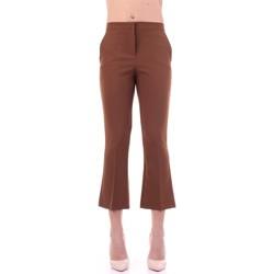 Textil Ženy Oblekové kalhoty Angela Davis EG71 Hnědá