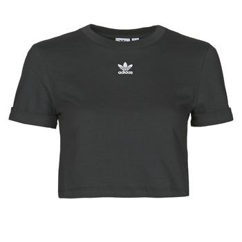 Textil Ženy Trička s krátkým rukávem adidas Originals CROP TOP Černá
