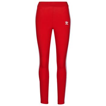 Textil Ženy Legíny adidas Originals 3 STR TIGHT Červená