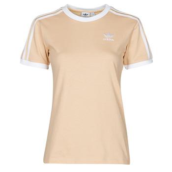 Textil Ženy Trička s krátkým rukávem adidas Originals 3 STRIPES TEE Oranžová