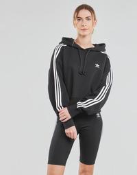 Textil Ženy Mikiny adidas Originals SHORT HOODIE Černá