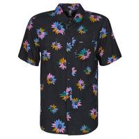 Textil Muži Košile s krátkými rukávy Volcom PLEASURE CRUISE S/S Černá
