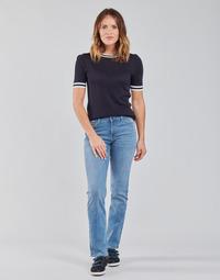 Textil Ženy Rifle rovné Lee MARION STRAIGHT Modrá