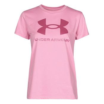 Textil Ženy Trička s krátkým rukávem Under Armour LIVE SPORTSTYLE GRAPHIC SSC Růžová
