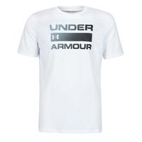 Textil Muži Trička s krátkým rukávem Under Armour UA TEAM ISSUE WORDMARK SS Bílá