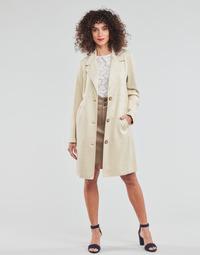 Textil Ženy Kabáty Esprit SUEDE COAT Béžová