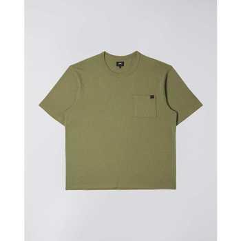 Textil Muži Trička s krátkým rukávem Edwin T-shirt  Oversized vert kaki