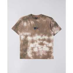 Textil Muži Trička s krátkým rukávem Edwin T-shirt  Synergy marron/blanc