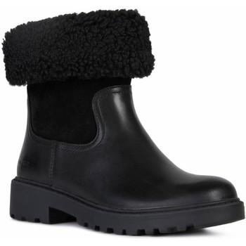 Boty Dívčí Zimní boty Geox J Casey Girl Wpf Black Black