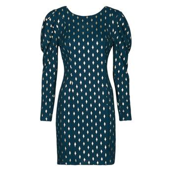 Textil Ženy Krátké šaty Naf Naf HERMIONE R1 Tmavě modrá / Zlatá
