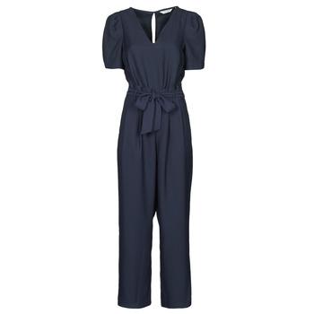 Textil Ženy Overaly / Kalhoty s laclem Naf Naf HEVY D1 Tmavě modrá