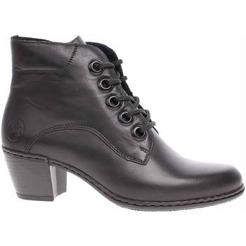 Boty Ženy Polokozačky Rieker Dámská kotníková obuv  Y2100-00 schwarz Černá
