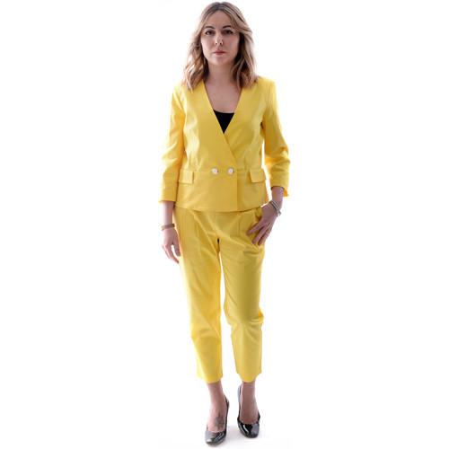 Textil Ženy Obleky Fracomina FR20SP090 Žlutá