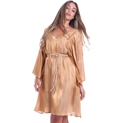 Textil Ženy Krátké šaty Fracomina FR20SMELISABETH Zlato