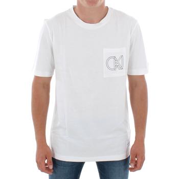 Textil Muži Trička s krátkým rukávem Calvin Klein Jeans J30J309612 112 OFF WHITE Blanco
