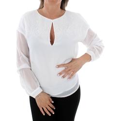 Textil Ženy Halenky / Blůzy Guess W93H92W8SL0 TWHT Blanco