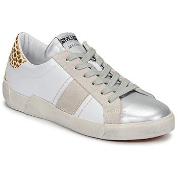 Boty Ženy Nízké tenisky Meline NK1381 Bílá / Béžová