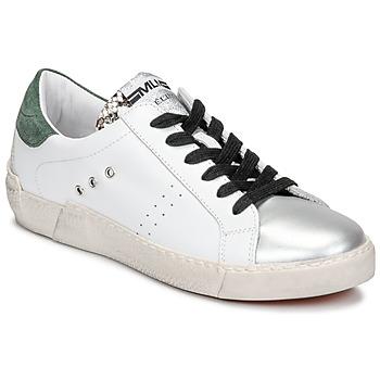 Boty Ženy Nízké tenisky Meline NKC1392 Bílá / Zelená