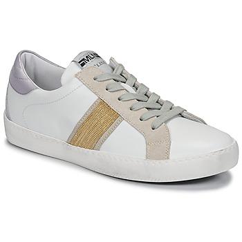 Boty Ženy Nízké tenisky Meline KUC1414 Bílá / Zlatá