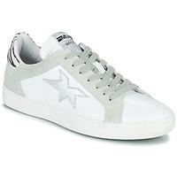 Boty Ženy Nízké tenisky Meline KUC256 Bílá / Stříbřitá