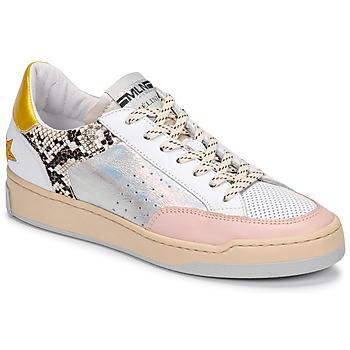 Boty Ženy Nízké tenisky Meline BZ180 Bílá / Růžová