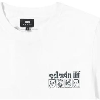Textil Muži Trička s krátkým rukávem Edwin T-shirt  Hokusai Noh Masks blanc/noir