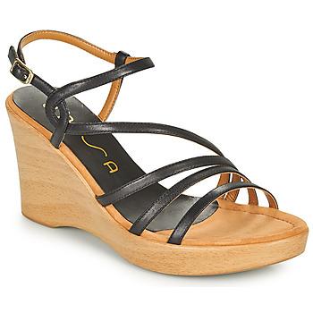 Boty Ženy Sandály Unisa RABAL Černá