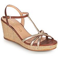 Boty Ženy Sandály Unisa LLINAR Zlatá