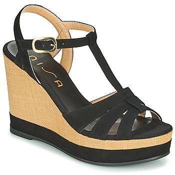 Boty Ženy Sandály Unisa MANACOR Černá