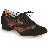 Boty Ženy Šněrovací společenská obuv Fericelli ABIAJE Černá / Červená