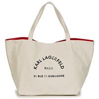 Taška Ženy Velké kabelky / Nákupní tašky Karl Lagerfeld RUE ST GUILLAUE CANVAS TOTE Krémově bílá