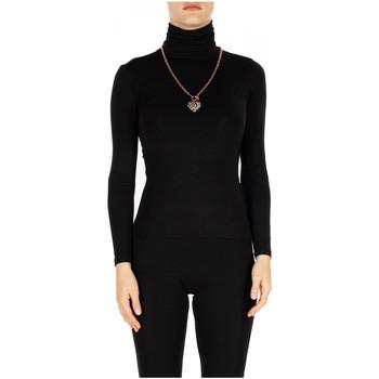 Textil Ženy Trička s dlouhými rukávy Luckylu T-SHIRT ML COLLO ALTO 0700-nero